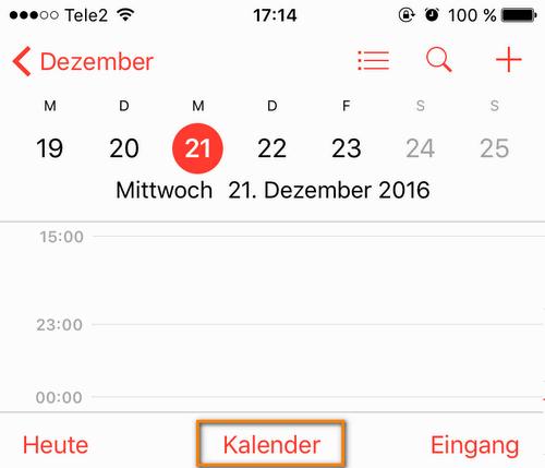 n App: alle Kalender anzeigen