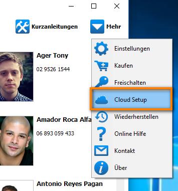 Cloud Setup einrichten
