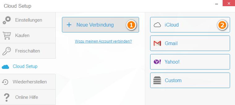 iCloud-Verbindung herstellen