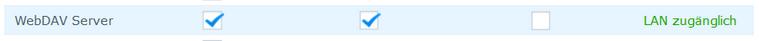 WebDAV LAN zugänglich