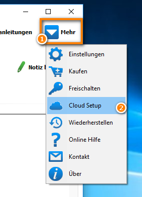 Cloud-Setup einrichten