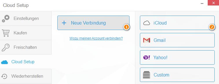 iCloud-Verbindung einrichten