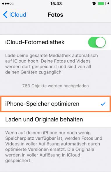 iPhone-Speicher optimieren