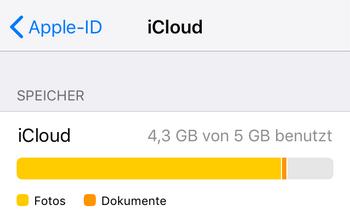 iCloud Speicher löschen