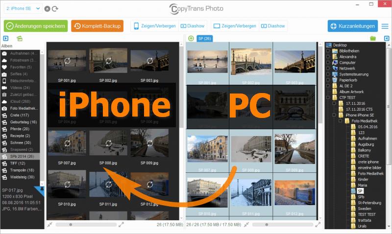 PC Fotos auf iPad übertragen