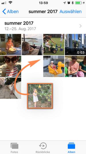 Fotos nach Zeit und Name sortieren