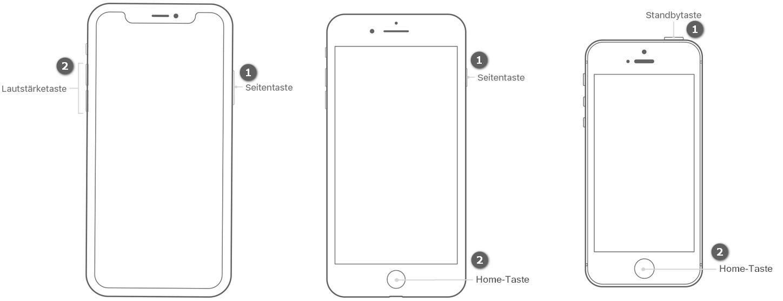 iPhone X, iPhone 8 Bildschirmfoto machen