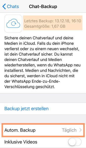 WhatsApp wiedeherstellen geht nicht