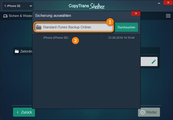 WhatsApp aus iTunes Backup selektiv bzw einzeln wiederherstellen