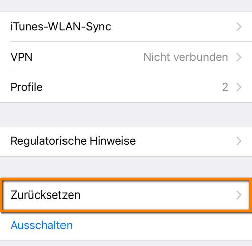 iOS-Backup Passwort zurücksetzen