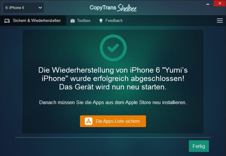 iPhone Backup optimieren