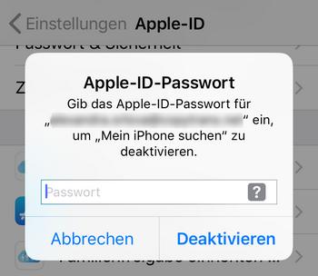 Apple-ID vom Vorbesotzer entfernen