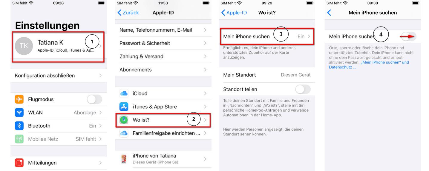 Weg für iOS 13 und spätere Versionen