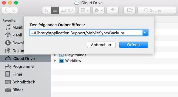 Ordner auf Mac öffnen
