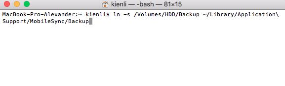 Befehl in Mac Terminal