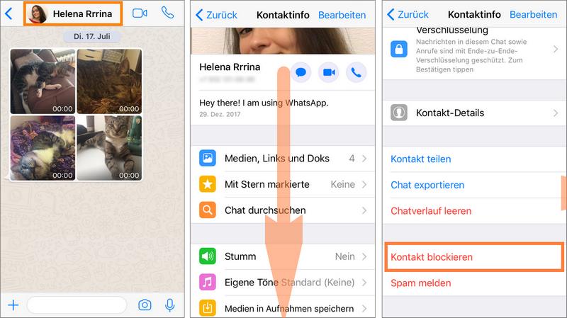 WhatsApp Kontakt auf iPhone löschen
