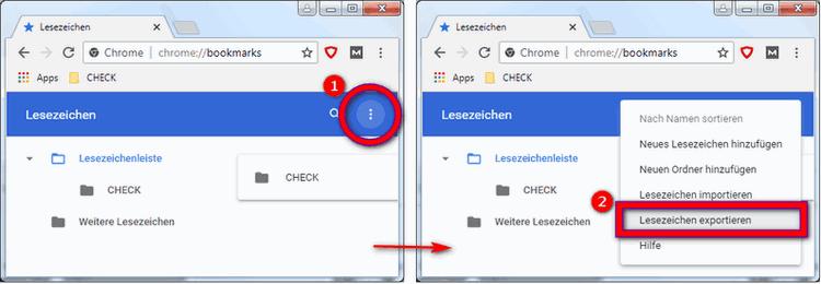 Lesezeichen speichern Google Chrome