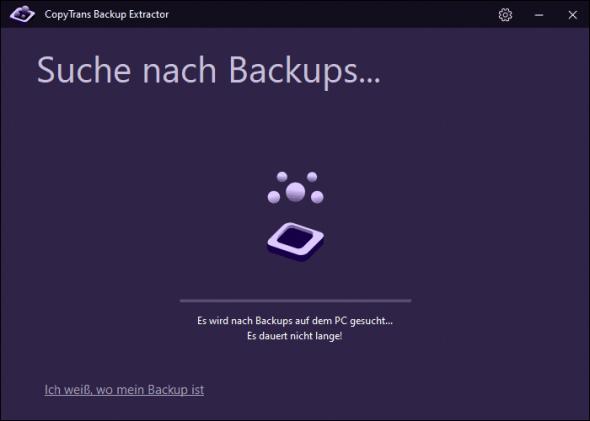 iPhone Backup auf PC finden