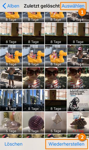 iPhone Fotos versehentlich gelöscht