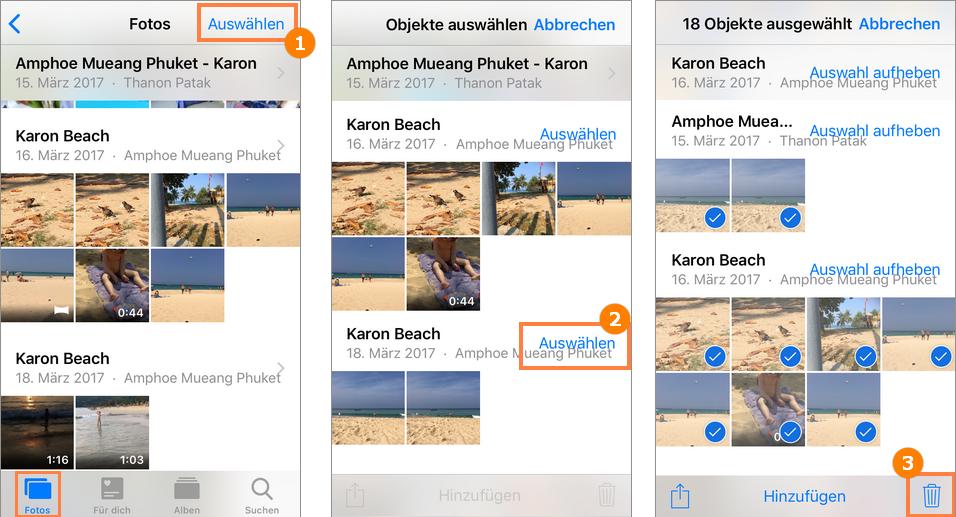 Alle iPad Fotos löschen