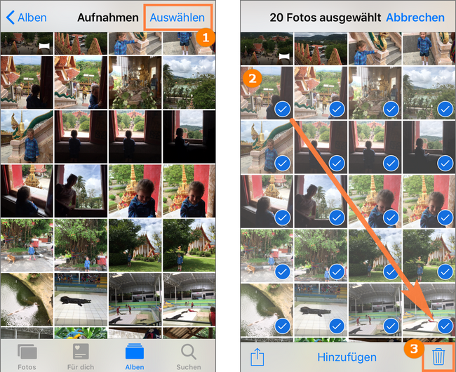 iPhone Fotos löschen geht nicht