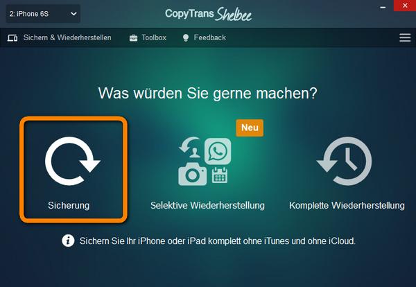 WhatsApp Backup Speicherort ändern