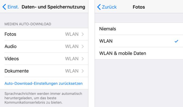 WhatsApp Bilder nicht automatisch speichern