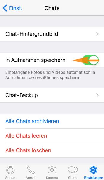 WhatsApp Bilder nicht in der Galerie speichern