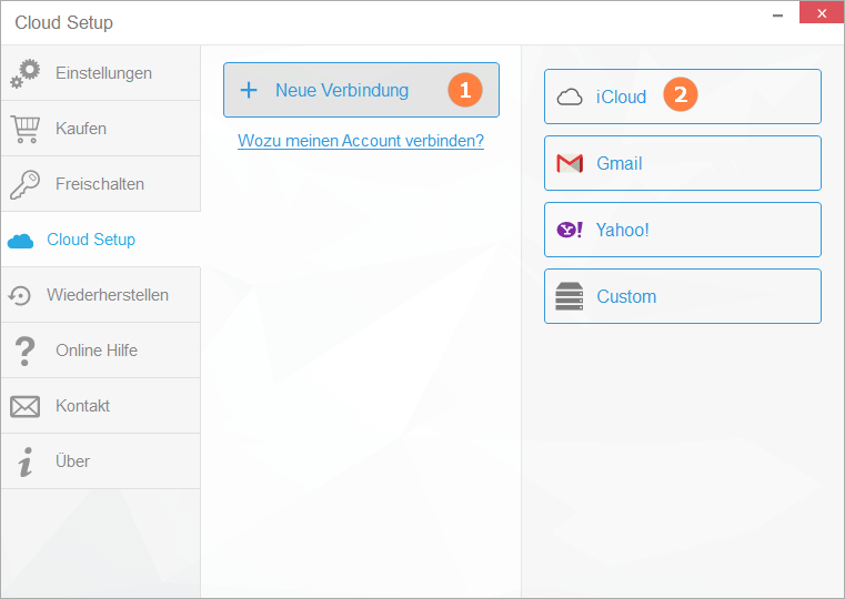 iCloud Setup in CopyTrans Contacts