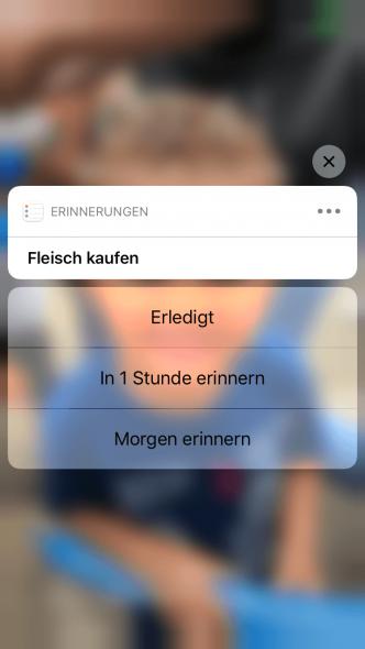 iPhone Erinnerungen Sperrbildschirm