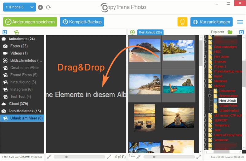 Fotos von iCloud auf iPhone laden
