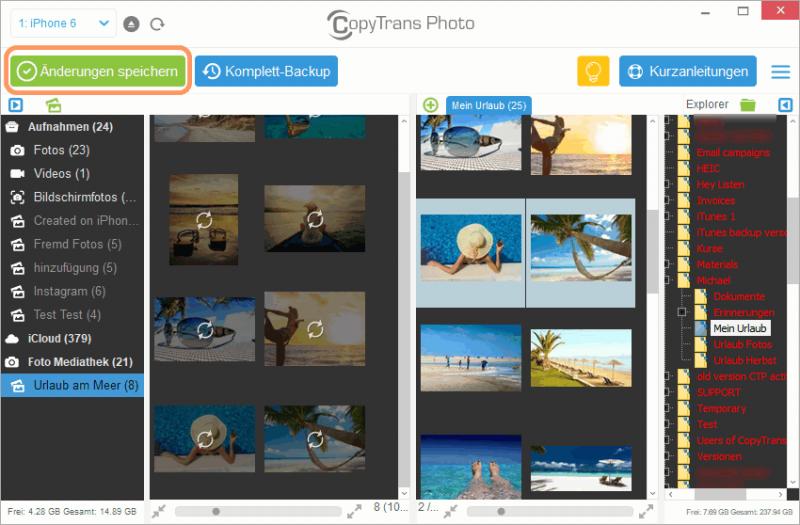 Fotos von iCloud auf iPhone übertragen
