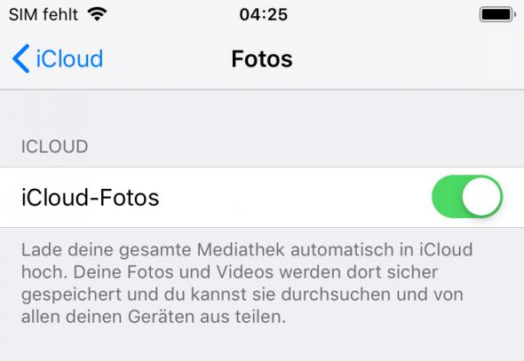 iCloud Fotos aktivieren