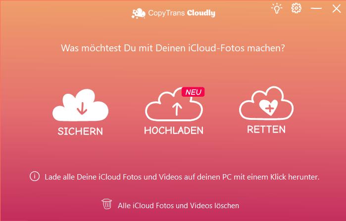 Alle iCloud-Bilder herunterladen