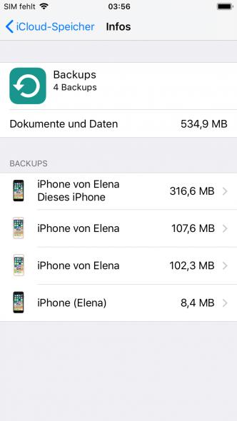 Fotos aus iCloud Backup wiederherstellen