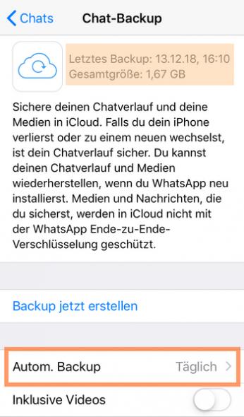WhatsApp Bilder zurückholen