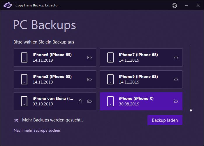 iPhone Kalender Backup