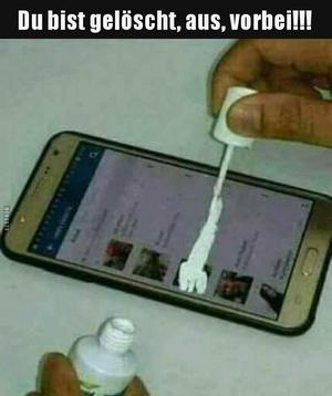 WhatsApp gelöscht