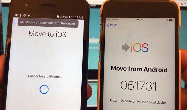 Move to iOS Fehler