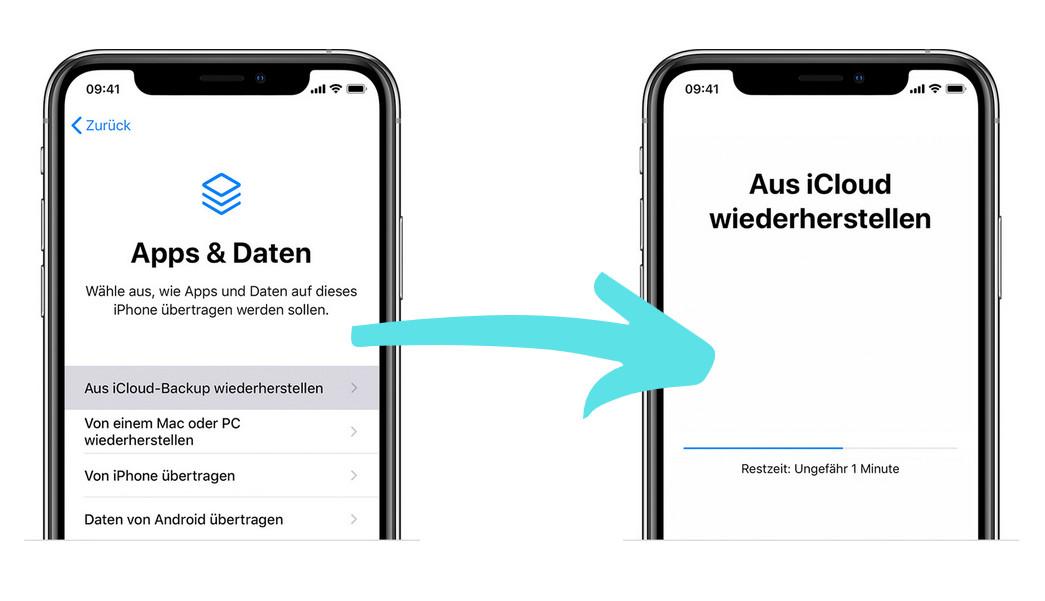 iPhone aus iCloud wiederherstellen