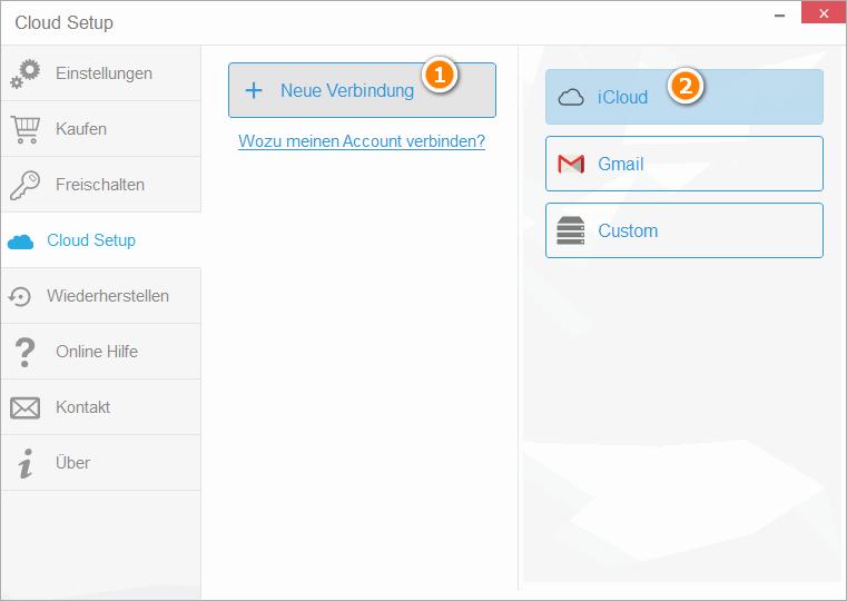 Cloud Setup für iCloud