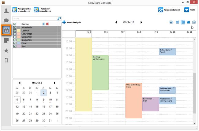 iPhone Kalender zum Outlook übertragen