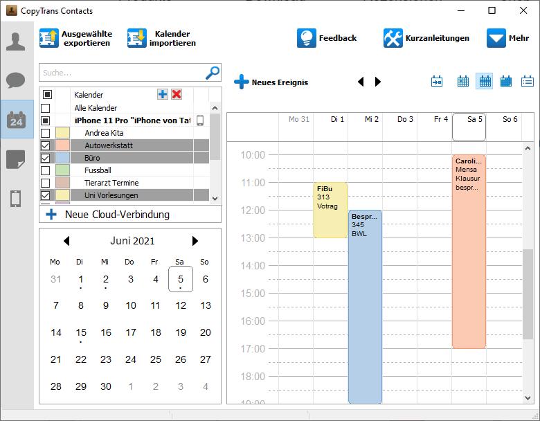 iPhone Kalender am PC anzeigen