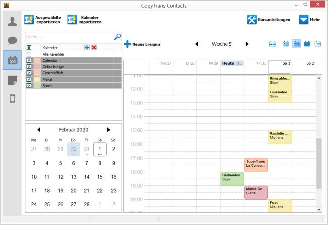 Outlook Kalender ist auf iPhone