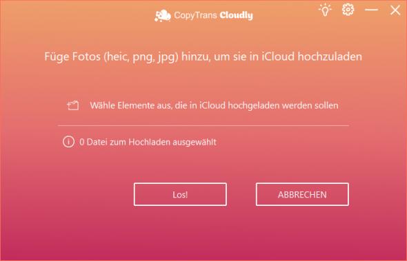 Fotos in iCloud laden