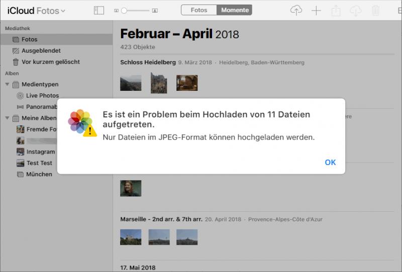 iCloud Fotos synchronisiert nicht