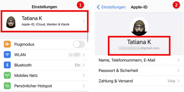 Apple-Account prüfen