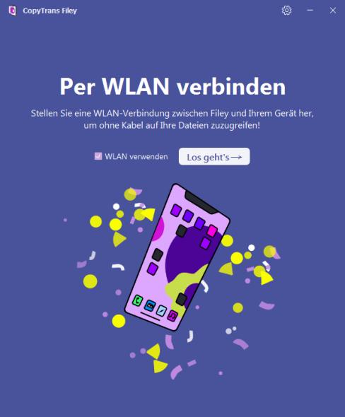 CopyTrans Filey per WLAN benutzen