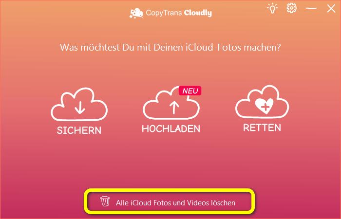 iCloud Fotos löschen
