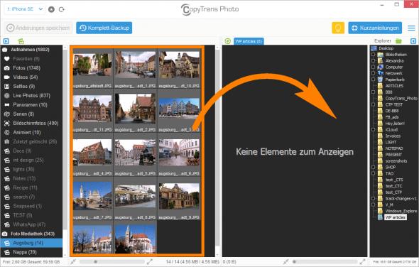 Fotos von iPhone auf PC übertragen